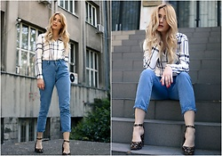 Sofija Surdilovic - Luvyle White Shirt, Shein Blue Jeans, Asos Black Shoes - Monday Cliche
