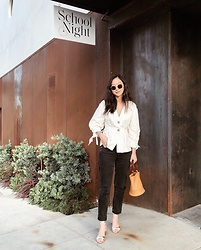 Tiffany Wang - Simon Miller Bag, Agolde Jeans, Zara Blouse, Mango Heels - SCHOOL NIGHT