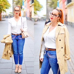 Nery Hdez - Chanel Glasses, Mango Blouse, Zara Jeans - Pearls for Today