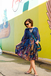Lindsey Puls - Evatrends Dress, Modcloth Bag - Styling a Floral Smock Dress