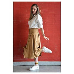 Marcela Perez - H&M Skirt, Zara Top, Superga Shoes - Camel and Superga