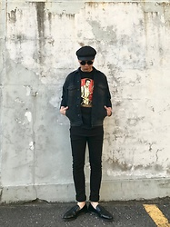 ★masaki★ - New York Hat Hats, R13 Denim Oversized Jacket, Obey Joe Strummer, The End Skinny Jeans, Dr. Martens Loafers - Road to rock & roll