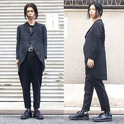 @KiD - Vintage Tuxedo, Joy Division Unknown Pleasures, Ch. Pants, Dr. Martens 3hole - JapaneseTrash374