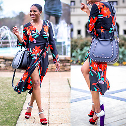 Monica Awe-Etuk -  -  THE FLORAL WRAP DRESS YOU WILL HAVE FOR YEARS