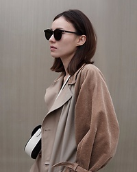 Kay Lai - Gentle Monster Dummies, Fill The Bill Coat, Céline Bag - My kinda puffy sleeves 😎