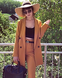 Paris Sue - Givenchy Bag, Gucci Belt, Zara Suit, H&M Hat, Mango Sunnies - Orange County