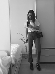 Kay Lai - Uniqlo Tee, Weekday Jeans, And Other Stories Boots - Weekdays