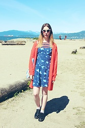 Chelsea Jade - East End Thrift Store Dress, Primark Tee - Layering A Vintage Dress