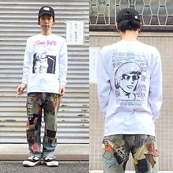 @KiD - Ooioo Cap, Sonic Youth Long Tee, Levi's® Remake Jeans, Northwave Espresso - JapaneseTrash376
