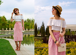Tasha Yun - Asos Skirt, Asos Sandals, H&M Hat - Summer is here