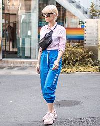 Eea Ikeda - Saint Laurent Sunglasses, Saint Laurent Waist Bag, H&M Shirt, H&M Jogger Pants, Fila Disruptor 2 Sneakers - Lost in Harajuku