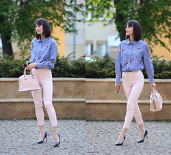 Daisyline . - Guess Heels, Coccinelle Bag, H&M Shirt - Business look / www.daisyline.pl