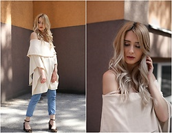 Sofija Surdilovic - Luvyle Off The Shoulder Poncho, Shein Blue Jeans, Asos Shoes - Some shoulders to show