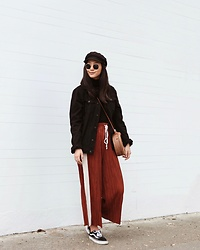 Tiffany Wang - Urban Outfitters Culottes, Brixton Hat - BRIXTON FIDDLER FISHERMAN HAT