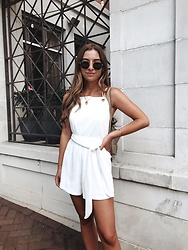 Fashion Sensored - Sabo Skirt White Romper - Chic white romper