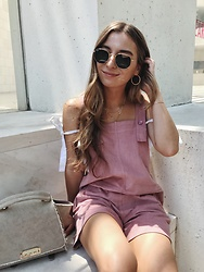 Fashion Sensored - Sabo Skirt Pink Overalls - Pink Overalls