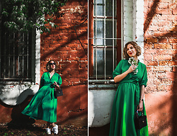 Margarita Maslova - Zara Green Dress - Spring vibes