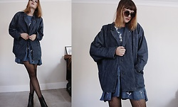 Lootsin Loots - Lootsinfashion Denim Jacket, New Chic Denim Dress - Denim on denim