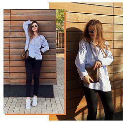 Alina Feminudity - Zara Shirt, H&M Jeans, Céline Bag - Relaxed Office Look