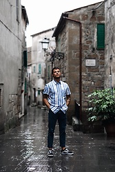 Kevin Elezaj - Vans Sneakers, Scotch & Soda Chino, A.P.C. Shirt - Pitigliano walks