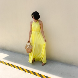 Cassey Cakes - H&M Dress, Mango Bag, Mango Sandals - Yellow, is it me you're looking for?