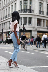 Rachel O. - Weekday Simple Tee, Zara Mom Jeans - Girl In London