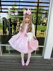 Melva Yan - Angelic Pretty Memorial Cake, Dream Holic The Boleyn Girl Pinky Linen, Baby, The Star Shines Bright Sa・Ku・Ra色のtea Timeブラウス - Kodachion: Angelic Pretty - Memorial Cake