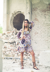Aevoulette Benssalconia - Gina Tricot Dress, Greek Handmade Gladiator Sandals - When Summer Comes
