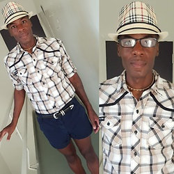 Thomas G - J. Crew Classic Twill Chino Weathered & Broken In, District 91 Usa Multi Colored Plaid Shirt, Fossil Genuine Leather, Choker, Fedora Short Brim Trilby Geometric, Contributing Writer At Virily, Contributing Writer & Photographer At Yelp - Short brim trilby + District 91 USA