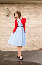 Lindsey Puls - Vintage Dress, Modcloth Cardigan - Accessorizing a Vintage Dress
