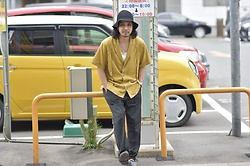 Hideki. Mn - Bernabeu Open Collar Shirts, Roundabout Cotton Tank Top, Bukht Pin Tuck Easy Pants Crazy - Japanese fashion 72