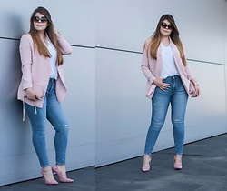 Feather P - Guess Bag, Zara Jeans - Pink