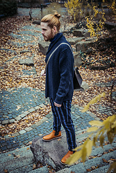 Maik - Allsaints Jacket, Scotch & Soda Trousers, Kavat Boots - Blue wool