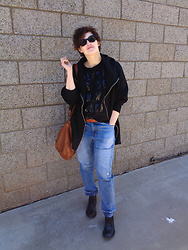 LogicFree - Zerouv Sunglasses, Forever 21 Hoodie, Old Navy T Shirt, Lucky Brand Bag, Forever 21 Jeans (Men's), Born Shoes - Brunch duds