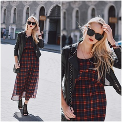 Madara L - Ebay Tartan Dress, Quiz Clothing Laced Heels, Daniel Wellington Classic Roselyn Watch - Tartan pattern spring