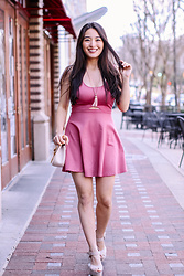 Kimberly Kong - Black Swan Pink Dress - The Perfect Pink MiniDress & The Michaels Challenge