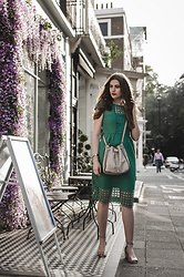 Andrea Funk / andysparkles.de - Next Dress - Green Summer Dress with Lace