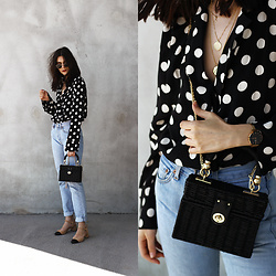 CLAUDIA Holynights - Zara Shirt, Zara Bag - Polka dots