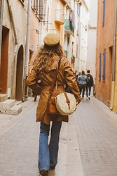 Alexe Bec - French Basket Bag, Brixton Cap - Spain Travel Diary