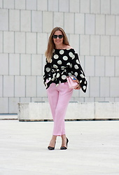 Eniwhere Fashion - Shein Polka Dot Shirt, Zara Pants, Zara Pumps, Ellepi Eyewear Sunnies - How to wear polka dots