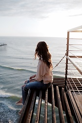 K-laa White - Madewell The Perfect Summer Jean: Destructed Edition, Urban Outfitters Uo Gracie Oversized Linen Button Down Shirt, J Slides Womens Acer Slip On - Sit by the sea with me