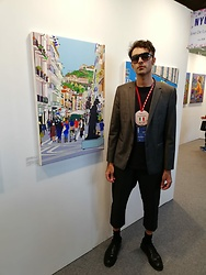 Marco Santaniello - Calvin Klein Blazer, Men In Jungle Japanese Cotton Tshirt !, Giorgio Armani Class Socks !, Asos Black - MY POP ART AT ART REVOLUTION TAIPEI 2018 !