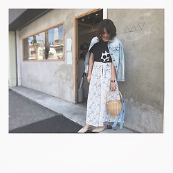 Chihiro_04.10 - Zara Bag, Uniqlo T Shirt, Zara Shoes - Denim on lace layered