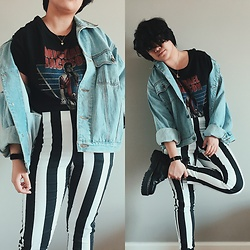 Gyanna Yumping - H&M Striped Pants, Dr. Martens Jadons - Thriller