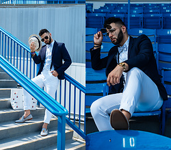 Hugo Filipe - Topman Flip Up Aviators, Michael Kors Gold Watch, Spring Barerwen, Zara Polka Dot Bow Tie, Zara Polka Dot Oxford Shirt, H&M Skinny Low Jeans, Zara Suspenders, H&M Patterned Straw Hat, Lacoste Spring 2018 Tote Bag, Aldo Cadilia - A Day At The Races