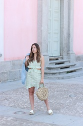 Claudia Villanueva - Zara Jacket, Zaful Dress, Pull & Bear Bag, Jeffrey Campbell Shoes - Cut Out Dress