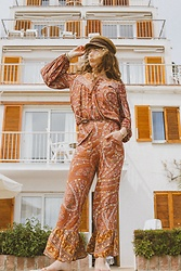 Alexe Bec - Brixton Cap, Spell Blouse, Spell Designs Pant - All shades of brown