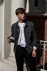 Georg Mallner - Weekday Denim Jacket, H&M Shirt, Topman Tshirt, Cos Pants - May 28, 2018