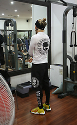 INWON LEE - Byther Skull Logo Top, Byther Skull Logo Shorts, Byther Slogan Lettering Leggings, Byther Reverse Cross Hairband - ByTheR Fitness
