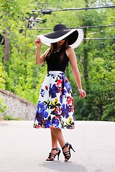 Lindsey Puls - Shein Skirt, Unique Vintage Sun Hat - Let Them Stare